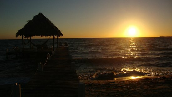 Green Parrot Beach Houses: Sunrise over the Caribbean.
