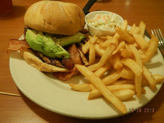Boston Beef & Seafood: Avocado bacon grilled chicken sandwich