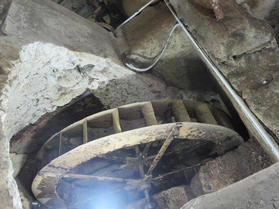 Museo della Carta: a water wheel