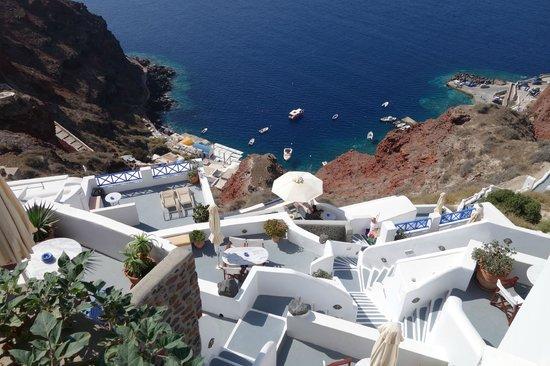 Esperas: looking down to Ammoudi Bay