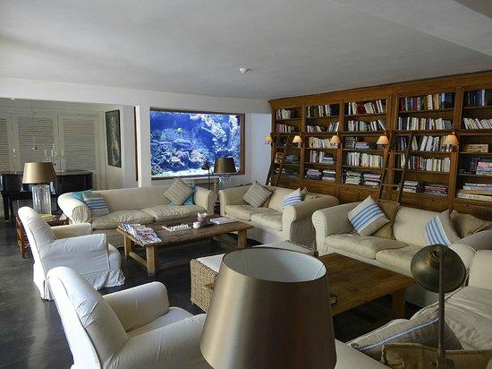 20 Degres Sud Hotel: La bibliothèque aquarium