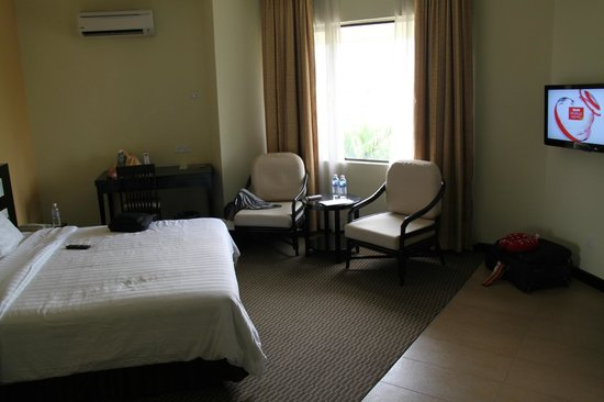 Hotel Perkasa: Our Hotel Room with view to Sports Stadium