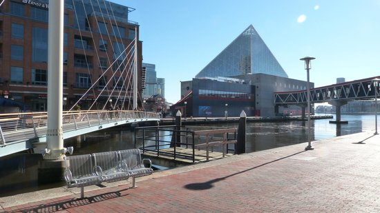 Outside of the National Aquarium
