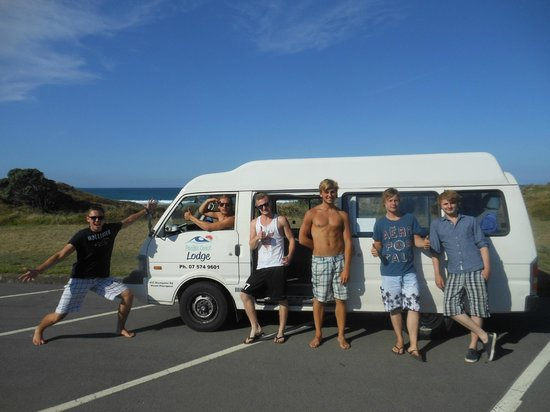 Pacific Coast Lodge and Backpackers: Boys & our Van enjoying Summer!