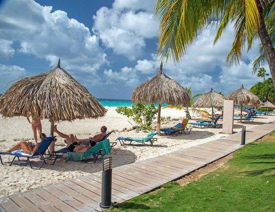 Tamarijn Aruba All Inclusive: The beach area in front of all of the Tamarijn rooms