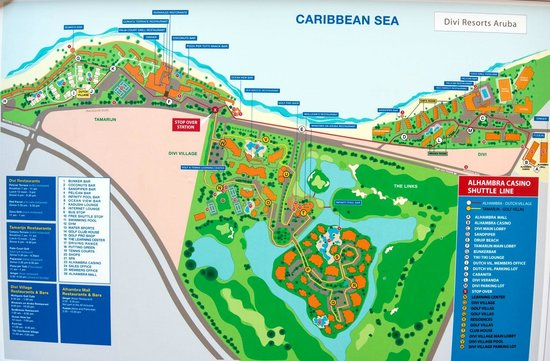 Map of the resorts - Picture of Tamarijn Aruba All Inclusive ...