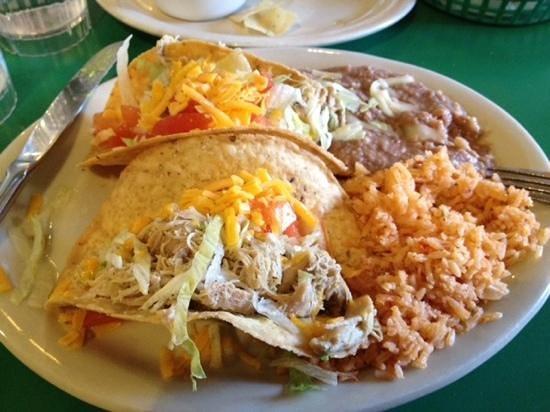 Crispy Taco Plate Delicious Generous Portion Picture