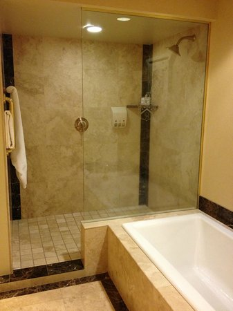 The Historic Davenport, Autograph Collection: Roomy bath w/ tub & large walk-in shower