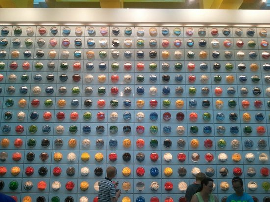 Mall of America: part of the Lego wall of accessories to choose from