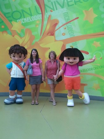 Mall of America: pic from a prior trip with Dora and Diego