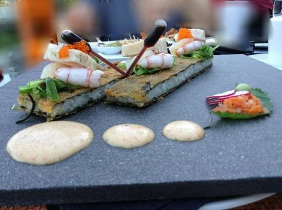 AURA waterfront restaurant + patio: dissected sushi