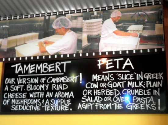 Witches Chase Cheese : Signage of cheese 2