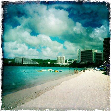 Outrigger Guam Beach Resort : Beach view...