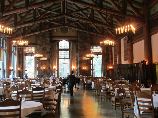 The stunning dining room picture of the majestic for Design hotel yosemite