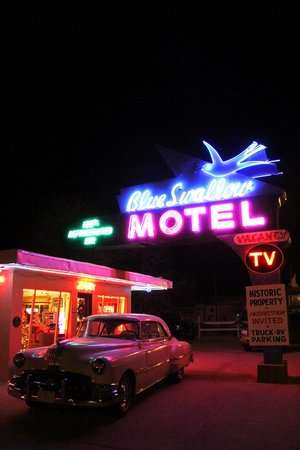 Blue Swallow Motel: The iconic sign