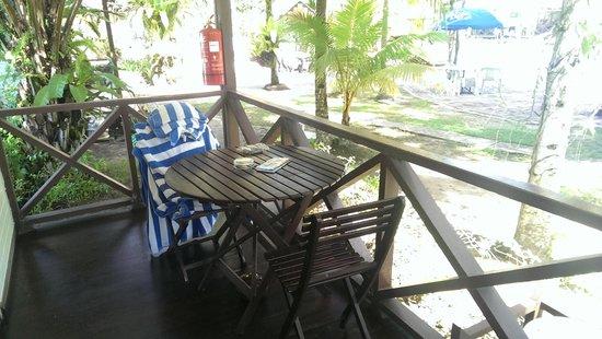 Langkah Syabas Beach Resort: Chalet Balcony