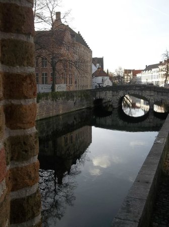 Hotel Ter Brughe: the view from our room