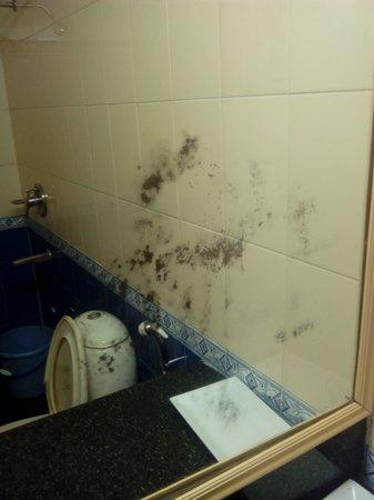 Raj Comfort Inn: Old Unpolished mirror