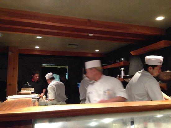 Sushi Roku : Directly at the sushi bar