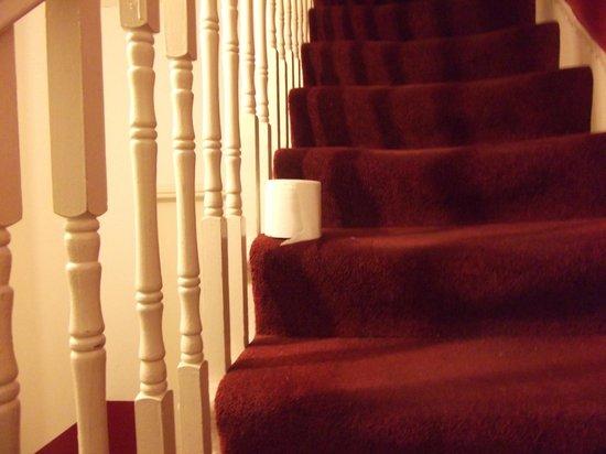37 Collingham Place London: Rouleau wc retrouvé sur les escaliers