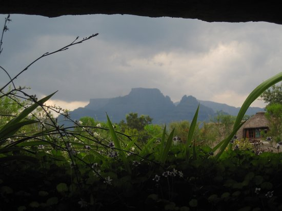 Inkunzi Cave & Zulu Hut: View from the kitchen window of the Didley Squat
