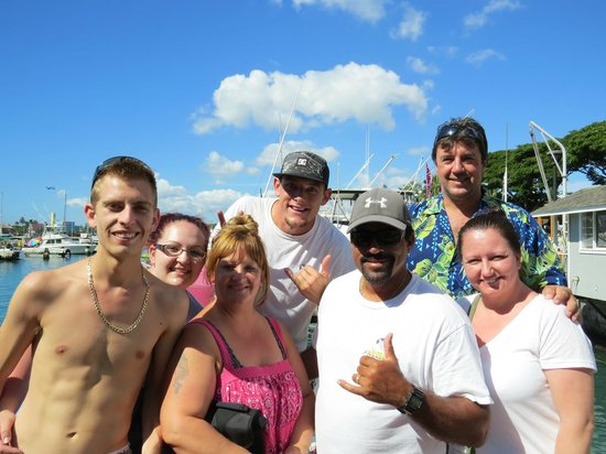 X-Treme Parasail: Group photo with the Captain and assistant