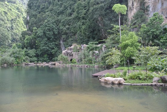 The Banjaran Hotsprings Retreat: hot springs and waterfall