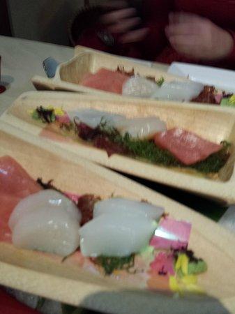 Oyado Koto no yume: Sushi - one of the courses with the set dinner menu