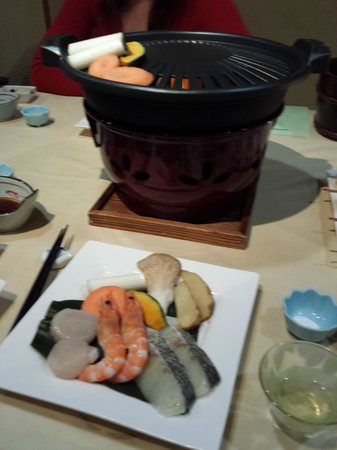 Oyado Koto no yume: Dinner - they catered for one of our party who did not eat beef