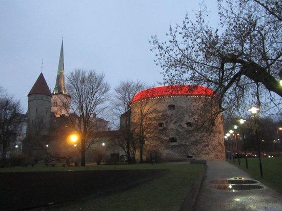 Fat Margaret (Paks Margareeta): Fat Margaret tower with Christmas lights
