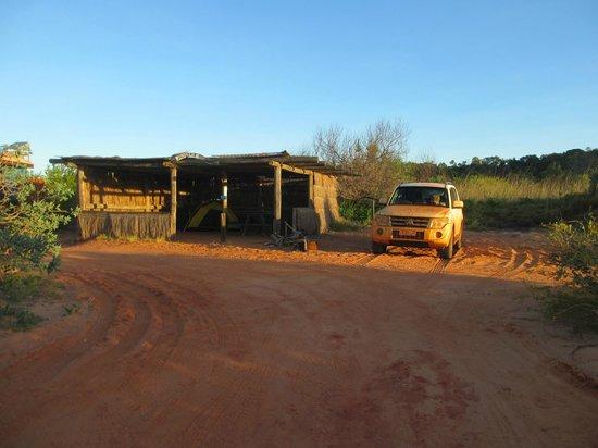 Kooljaman at Cape Leveque: thatched hut accommodation