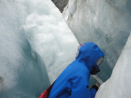 Franz Josef Glacier: another crevice