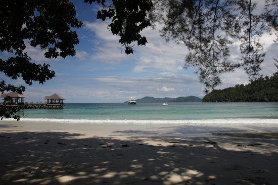 Bunga Raya Island Resort : Beach