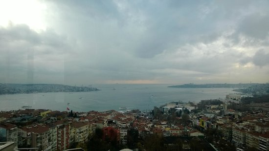 Conrad Istanbul Bosphorus: The Bosphorous from the terrace
