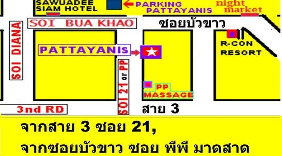 Greek Garden Taverna Pattayanis : map to pattayanis