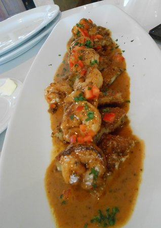 BRIO Tuscan Grille: Spicy Shrimp & Eggplant appetizer (Primi)