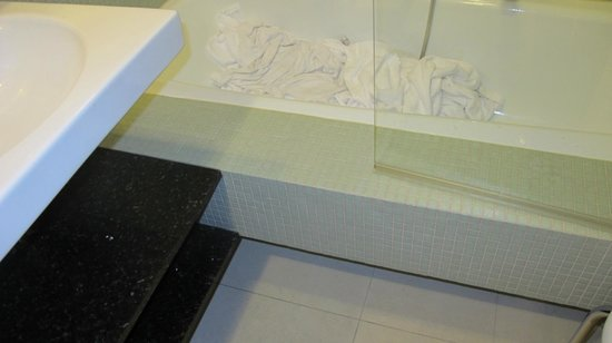 Theresia Gartenhotel : Very Narrow Bathroom (family room!)