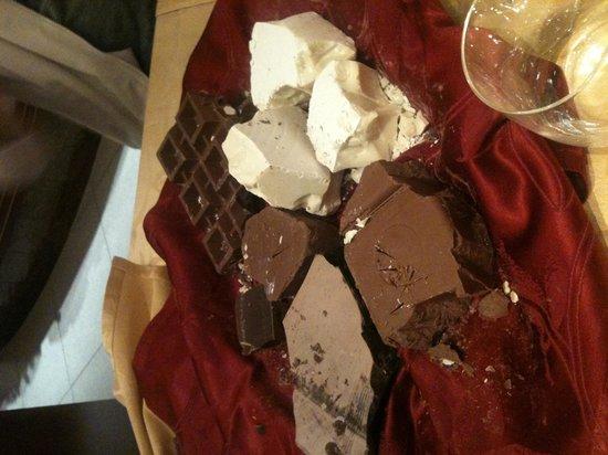 Ristorante Allo Scudo D'Orlando: Degustazioni di cioccolata