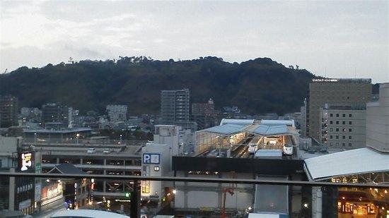 Solaria Nishitetsu hotel Kagoshima: 山側、鹿児島中央駅
