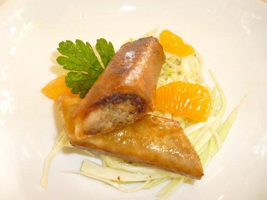 Le Vistamar : croustillant de gibier aux agrumes, salade à cru de choux blanc à la pomme verte