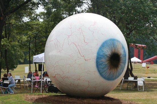 Laumeier Sculpture Park: A big eye: a little weird