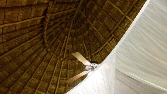 """Hotel & Bungalows Mayaland: Bungalow : Le """"toit"""" dans la chambre"""