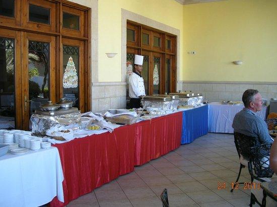 Mexicana Sharm Resort: Ude da de gør klar til juleaften indendørs