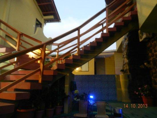 Área externa do hotel North Seymour
