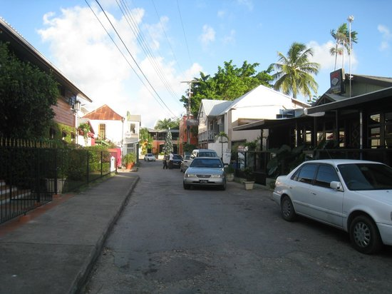 Mango Bay All Inclusive: Street in front of hotel