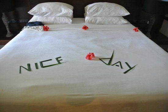 AVANI Kalutara Resort: Room boys leave little messages