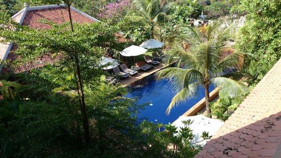 Siddharta Boutique Hotel: 三階からプールを望む