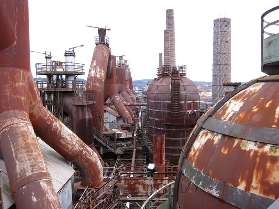Voelklinger-Huette: View on some of the blast furnaces