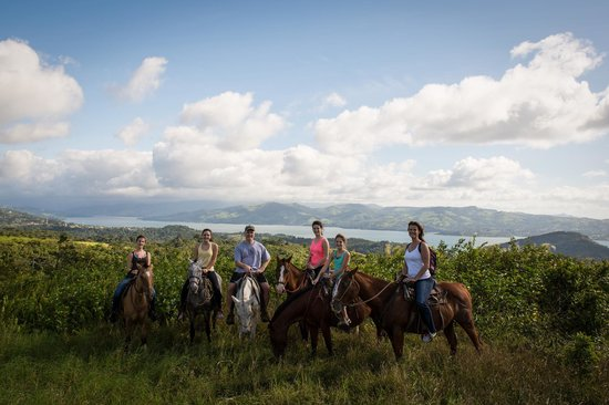 The Stable Arenal (El Establo): our girls enjoying the ride
