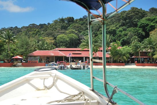 Arwana Perhentian Eco Resort & Beach Chalet: From the boat
